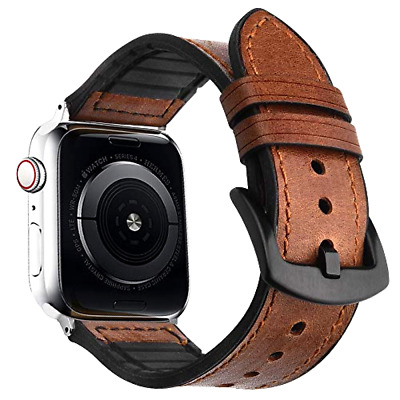 Apple Watch 5 4 3 2 Leather Band 44mm Real Genuine Bands iwatch Sport Edition