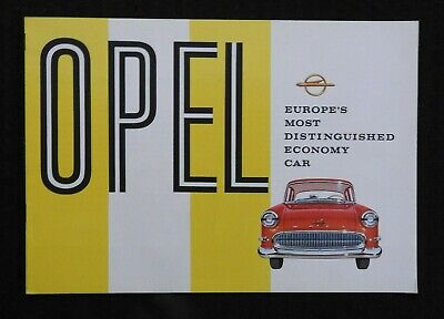 """1958 """"Opel, Europe's Most Distinguished Economy Car"""" Catalog Rekord Brochure"""