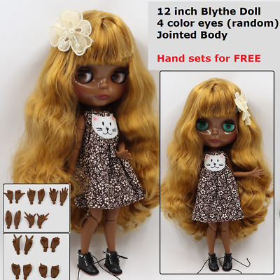 "New 12/"" Blythe Doll Without Hair 19 joint Nude Body No Makeup White Skin"