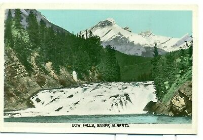 Bow Falls Banff Alberta Bow River Valley Vintage Postcard Posted 1954