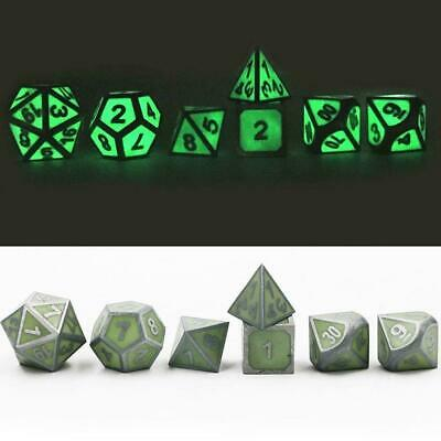 7Pcs/Set Antique Metal Polyhedral Dice DND RPG MTG Role Playing Game With B L4P4