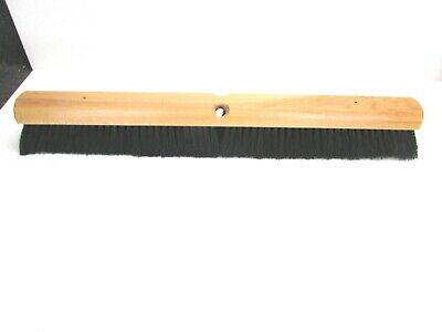 "Nos! 24"" Floor Brush Black Tampico Fine/Med Sweep 2-1/4"" Bristles"