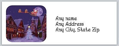 Personalized Address labels Christmas Bear Couple Buy 3 get 1 Free ac 447