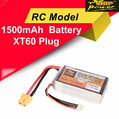 Mirahobby LiPo Battery Pack 1500mAh 11.1V 45C 3S with XT60 Plug for RC FPV Drone Airplane