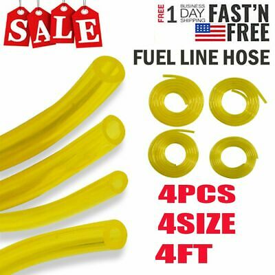 4 Sizes Petrol Fuel Gas Lines Pipe Hose Tubing For Trimmer Chainsaw Blower Tool