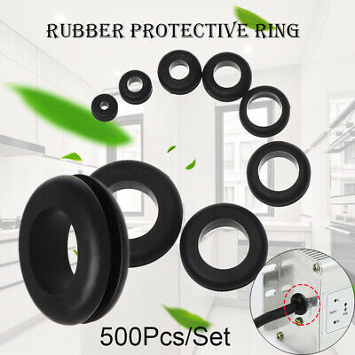 500PCS WIRING GROMMETS Cable Routing Rubber Grommet O Ring ... on wiring plugs, wiring terminals, wiring batteries, wiring bolts, wiring covers, wiring accessories, wiring switches, wiring electrical, wiring lamps, wiring nuts, wiring conduit,