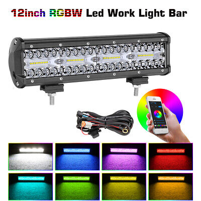 12inch LED Driving Light Bar Cree Super Slim Spot Flood Combo Offroad SUV Traile
