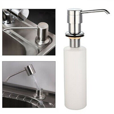 White Liquid Soap Dispenser Lotion Pump Cover Built in Kitchen Sink Countertop U