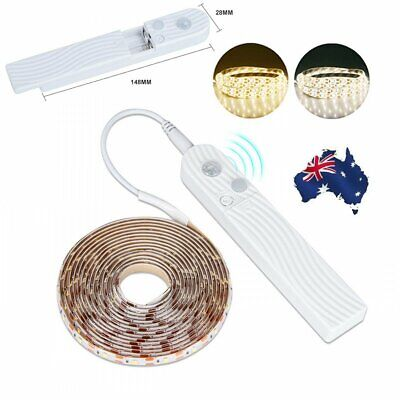 Battery Powered Wireless PIR Motion Sensor LED Strip Light Wardrobe Cabinet Lamp