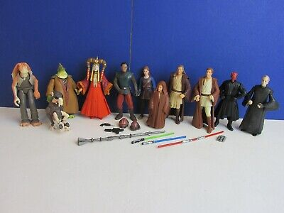 star wars EPISODE 1 ACTION FIGURE SET anakin darth maul sebulba amidala ep1 69f