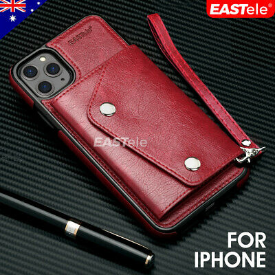 Apple iPhone 11 Pro Max XS XR X Luxury Leather Wallet Card Shockproof Case Cover