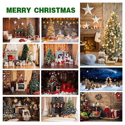 Merry Christmas Background Backdrop Xmas Photography Prop Home Happy Bell UK