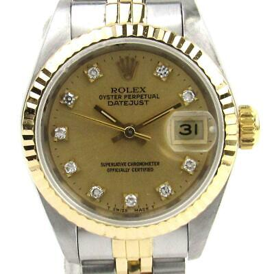 to buy 15b17 33ae8 ROLEX DATEJUST CHAMPAGNE Dial 10P Diamond 69173G Number T ...