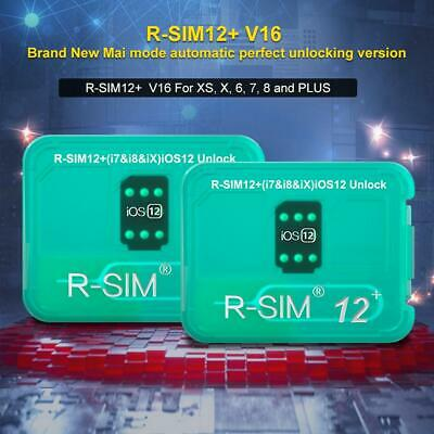 R-SIM12+V16 Nano Unlock Card RSIM Karte For IPhone XS/X/7/8 Plus 4G IOS 12.3 Lot