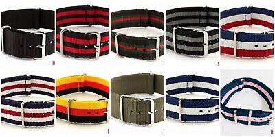 Nylon Nato Watch Strap Band Military Army Diver G10 18 MoD MM