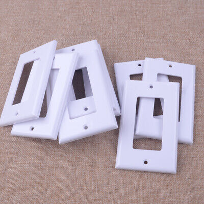 1/5/10/20pcs 1-Gang Blank Wall Plate Cable Cover Outlet Switch Decor Faceplate