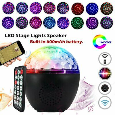 RGB Disco Party DJ LED Stage Effect Light Lamp Laser Crystal Magic Ball w/Remote