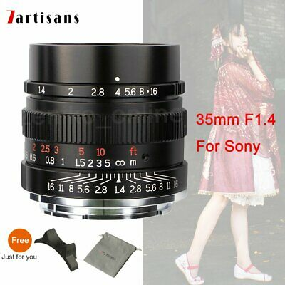 7artisans 35mm F1.4 Full Fame Lens for Sony E-mount Cameras A7 A7II A7R A7RI