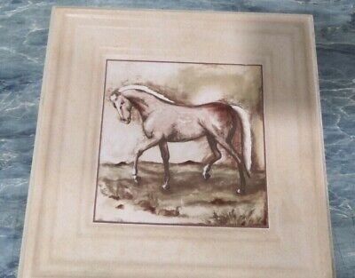 Vintage Unique Cream beautifully handcrafted Tiles horse and Dear themes 25x25cm