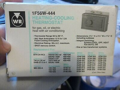 WHITE RODGERS HEATING Thermostat, Low Voltage, 1F32-301