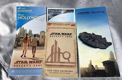 Star Wars: Galaxy's Edge Disney World Map And Traveler's Guide Hollywood Studios
