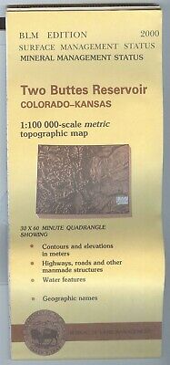 USGS BLM edition topographic map Colorado KS - TWO BUTTES RESERVOIR 2000 mineral