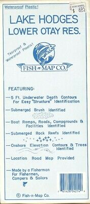 Fish-n-Map Co. LAKE HODGES LOWER OTAY RESERVOIR California