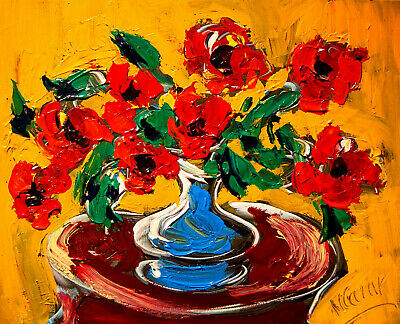 FLOWERS modern abstract  Abstract Modern Original   Painting  ET56