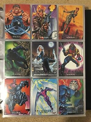 1992 Marvel Masterpieces Trading Cards COMPLETE BASE SET, #1-100 NM/M! Joe Jusko