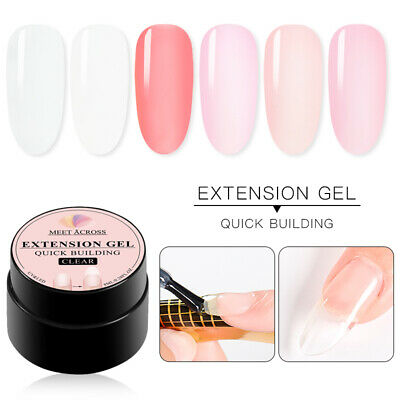 MEET ACROSS 8ml Quick Building Nail Art Tips Extension Builder UV/LED Manicure