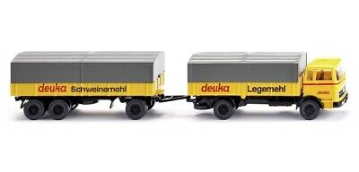 "Scheuerle Wiking 085133 Flatbed Trailer /"" Rosary /"" 1:87 H0 NEW ORIGINAL"