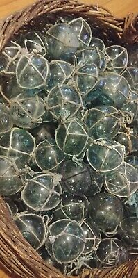 Authentic BLOWN Japanese Fishing Floats - approx 2.5 inch diameter - lot of 50