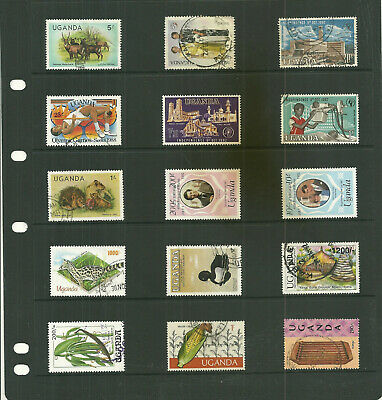 Commonwealth Uganda     Africa one  stock sheet  collection stamps