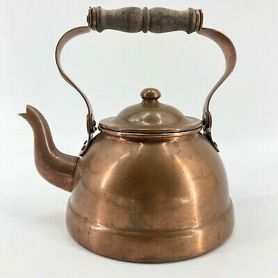 Vintage Copper Tea Pot Douro B&M Hand Crafted Kettle Teapot Made in Portugal
