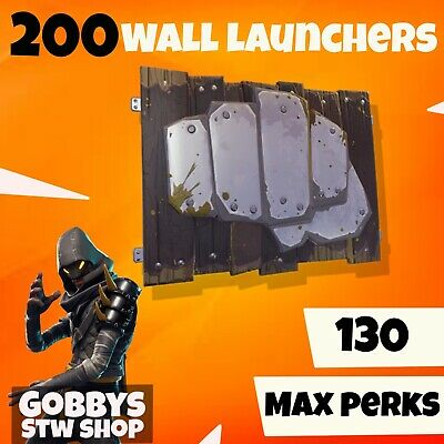 FORTNITE Save The World 200 X WALL LAUNCHER TRAPS GODROLLPC PS4 XBOX