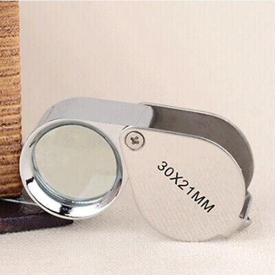 30X21mm Tiny Magnifying Eye Loupe Mini Jewelry Magnifier Pocket Size Glass Lens