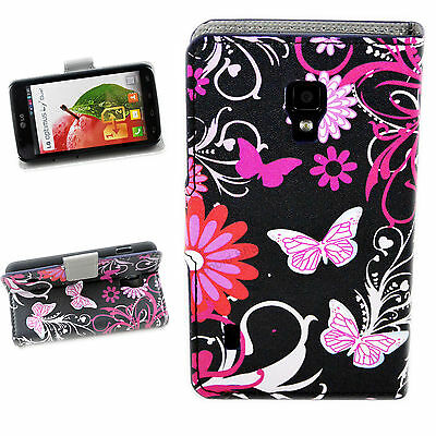 Beautiful Leather Credit Card Wallet Stand Case Cover For LG Optimus L7 II P715
