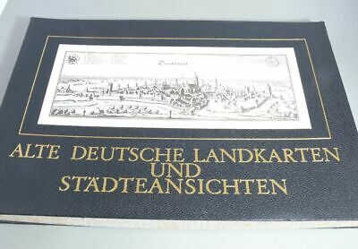 Old German Map and Städteansichten