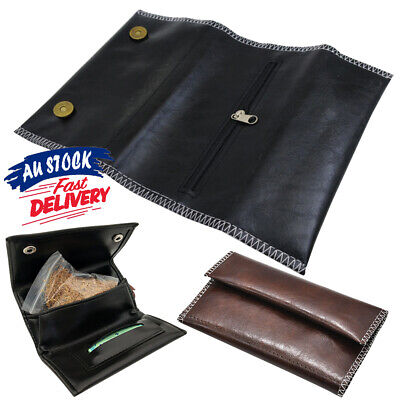 Cigarette Tobacco Pouch Holder Rolling Paper Wallet Filter Gift Leather Bag Case