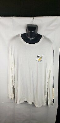 Nautica Long Sleeve Solid Tee T-Shirt 100% Cotton White XXL