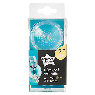 Tommee Tippee Advanced Anti-Colic Variable Flow Soft Silicone Teats 0m+