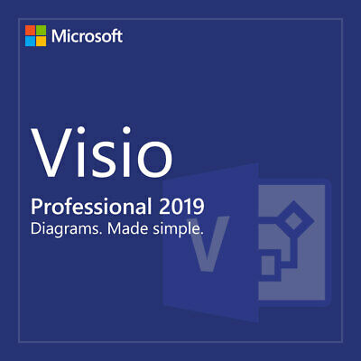 INSTANT Microsoft VISIO 2019 Professional PRO 64bit Activation Product Key 1 PC