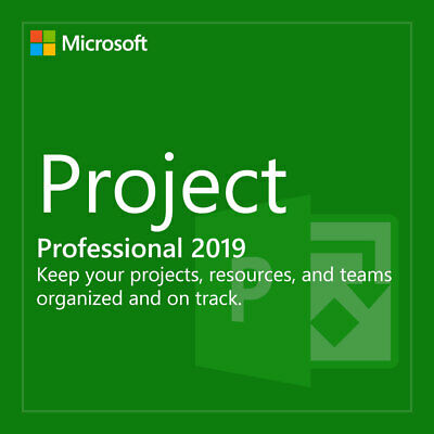INSTANT Microsoft PROJECT 2019 Professional PRO - Activation Product Key 1 PC