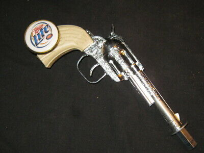 beer tap handle old western six shooter miller lite
