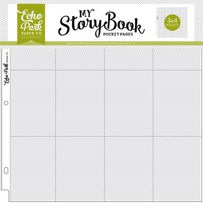 12x12 Inch Pocket Page - 3x4 Pockets (10 Sheets) (msbpp1207)