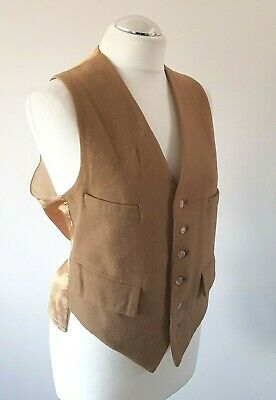Smart Vintage Mid 20th Century Men's Wool / Silky Waistcoat Made England Small