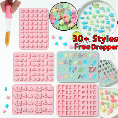 Silicone Gummy Chocolate Cookie Baking Mold Ice Cube Tray Cake Candy Jelly Mould