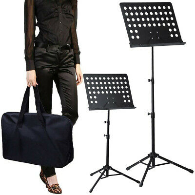 Orchestral Sheet Music Stand Tripod Height Angle Adjustment Portable Folding+Bag