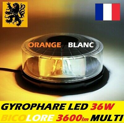 GYROPHARE🚨LED PL-GSX 36W ⚠️ 32EPX 12V24V BICOLORE 3600lm MULTIMODE FLASH AIMANT