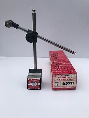 Starrett No. 657D Magnetic Base Indicator Holder With Box